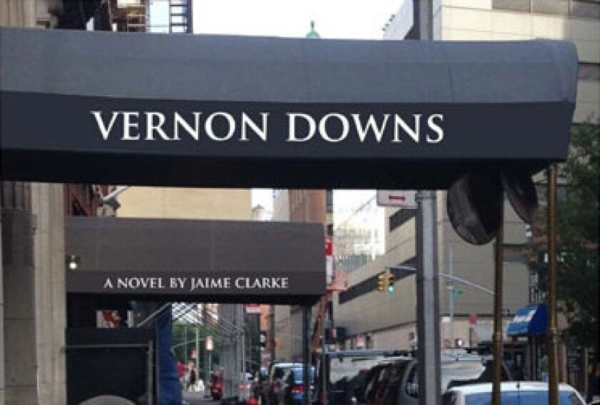 """Author Jaime Clark doesn't want people to buy his novel """"Vernon Downs"""" from Amazon."""