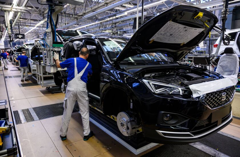 Volkswagen production line