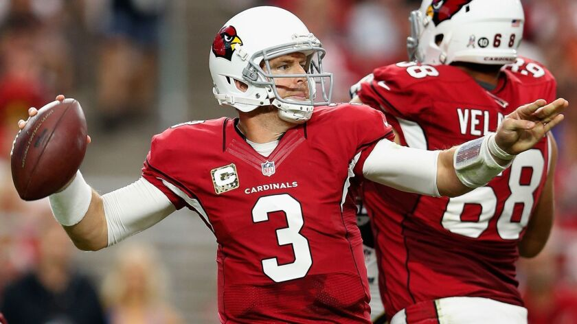FILE: Carson Palmer Out For Season St Louis Rams v Arizona Cardinals