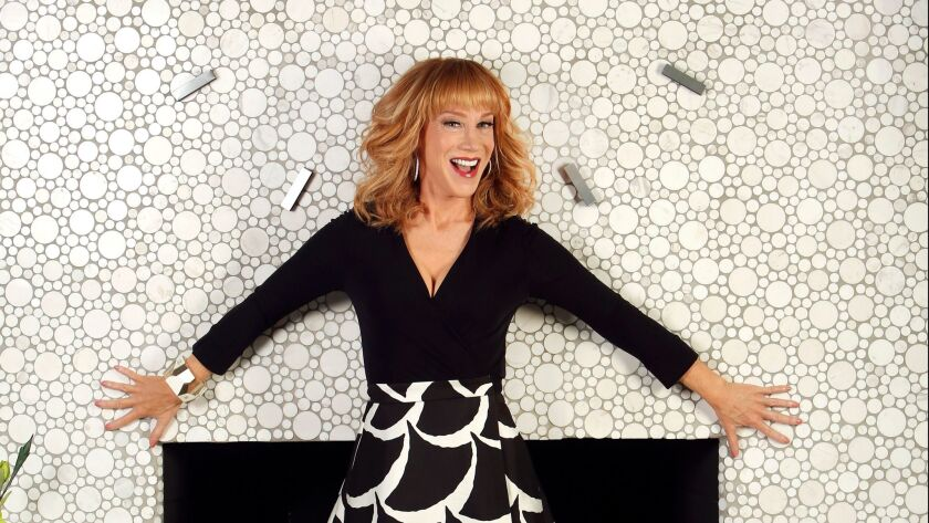 Comedian Kathy Griffin photographed in her Burbank home in 2015.