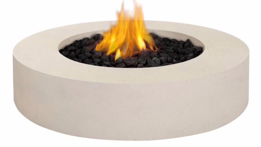 Real Flame Mezzo round fire pit table