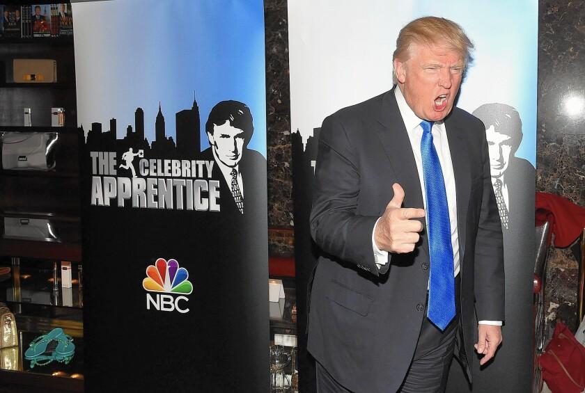 "Donald Trump former of the NBC series ""The Apprentice"""