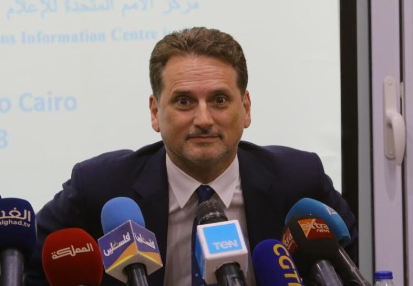 El comisario general de la Agencia de la ONU para los Refugiados Palestinos (UNRWA), Pierre Krähenbühl. EFE/Archivo