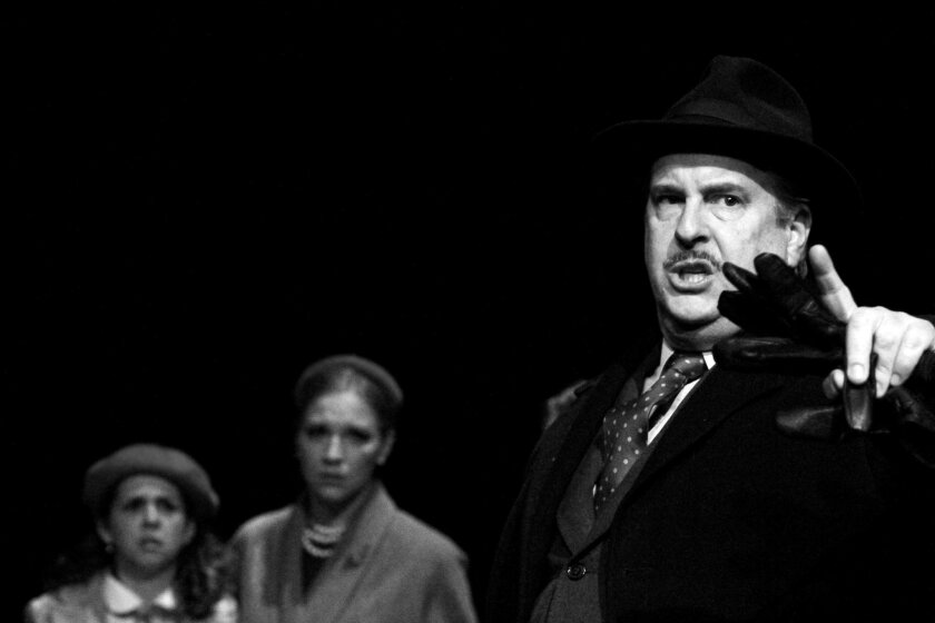 """Erin Petersen, Brenda Dodge and Danny Campbell (left to right) in Intrepid Shakespeare Co.'s """"An Enemy of the People."""""""