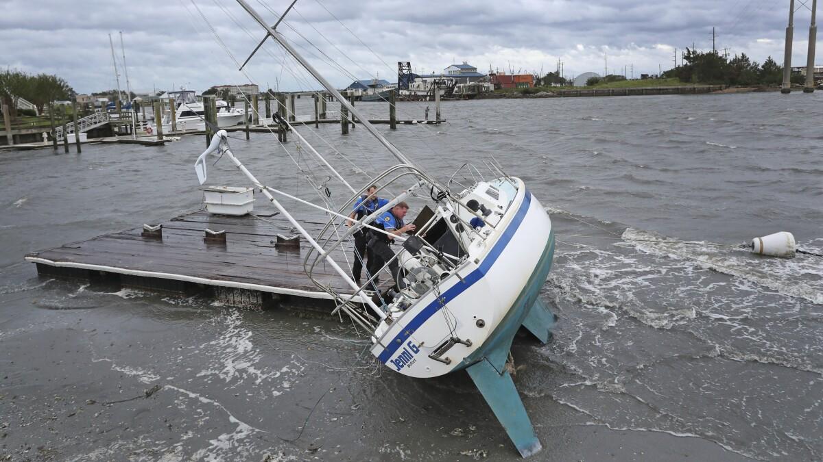 Hurricane Dorian makes landfall in North Carolina's Outer