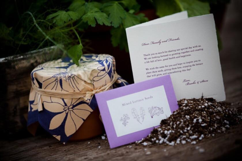 Potting kits make great wedding favors.