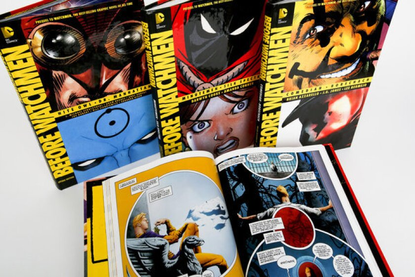 """A new series of """"Before Watchmen' books imagines backstory for the classic 'Watchmen' graphic novels."""