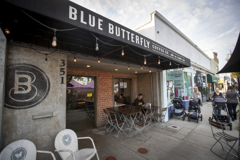 What's the rush? Sit and enjoy something from the Blue Butterfly Coffee shop in El Segundo.