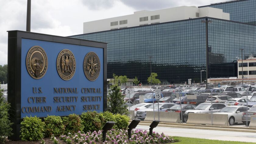 FILE - In this June 6, 2013 file photo shows a sign outside the National Security Agency (NSA) campu