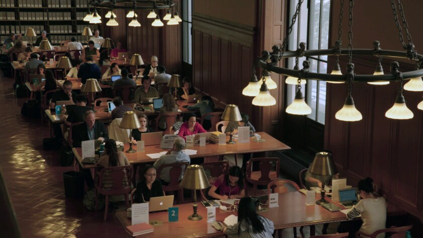 "Milstein Reading Room at the New York Public Library from Frederick Wiseman's film, ""EX LIBRIS - Th"