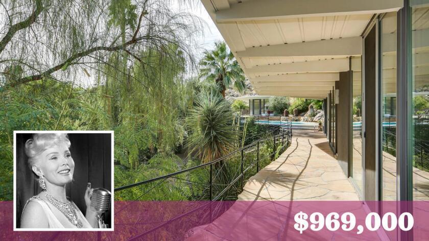 Propiedad de Zsa Zsa Gabor en Palm Springs, en venta por $969,000