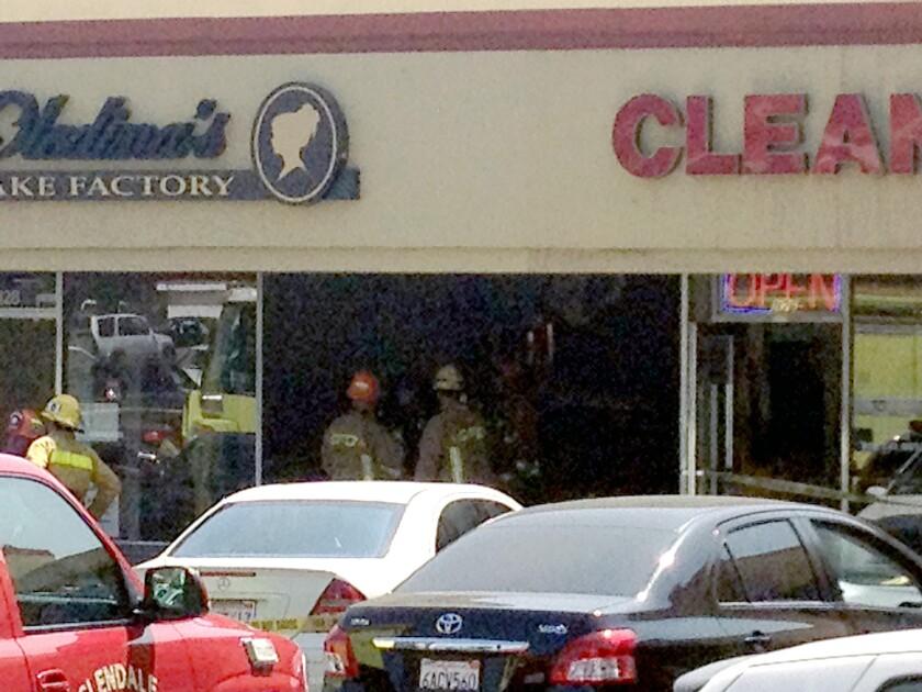 Man killed when vehicle slams into Glendale bakery