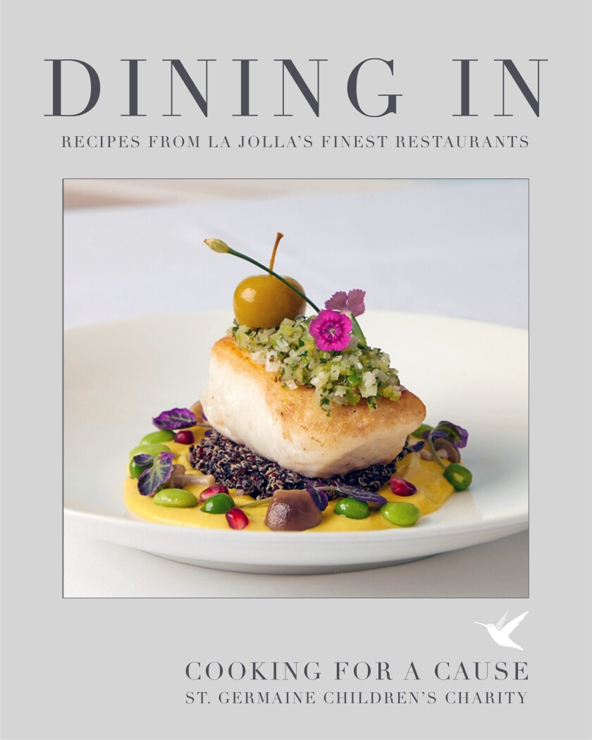 """""""Dining In"""" contains more than 50 recipes created and donated by chefs from over 40 La Jolla restaurants."""