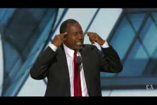 Former presidential hopeful Dr. Ben Carson speaks at the Republican National Convention