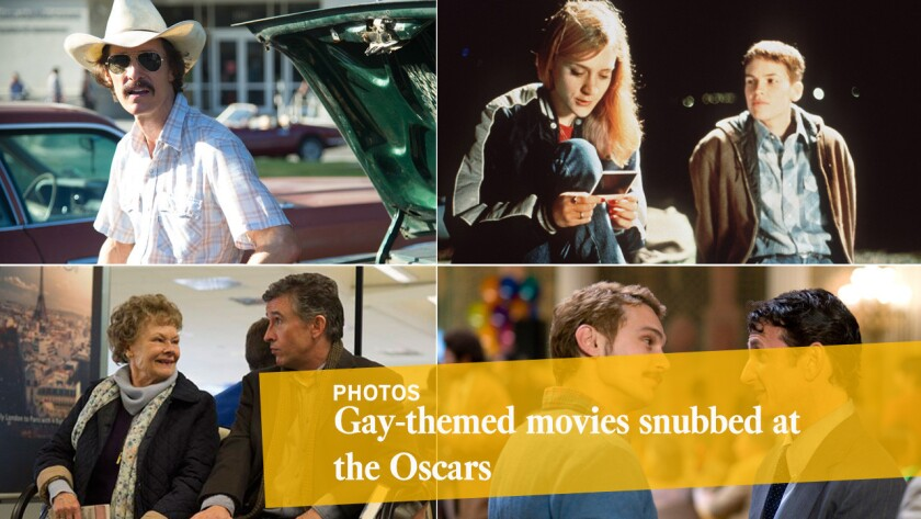 In the 88 years that the Academy Awards have been given, not a single gay-themed movie has been named best picture, although a handful have been nominated and several actors have picked up Oscars for playing gay roles.