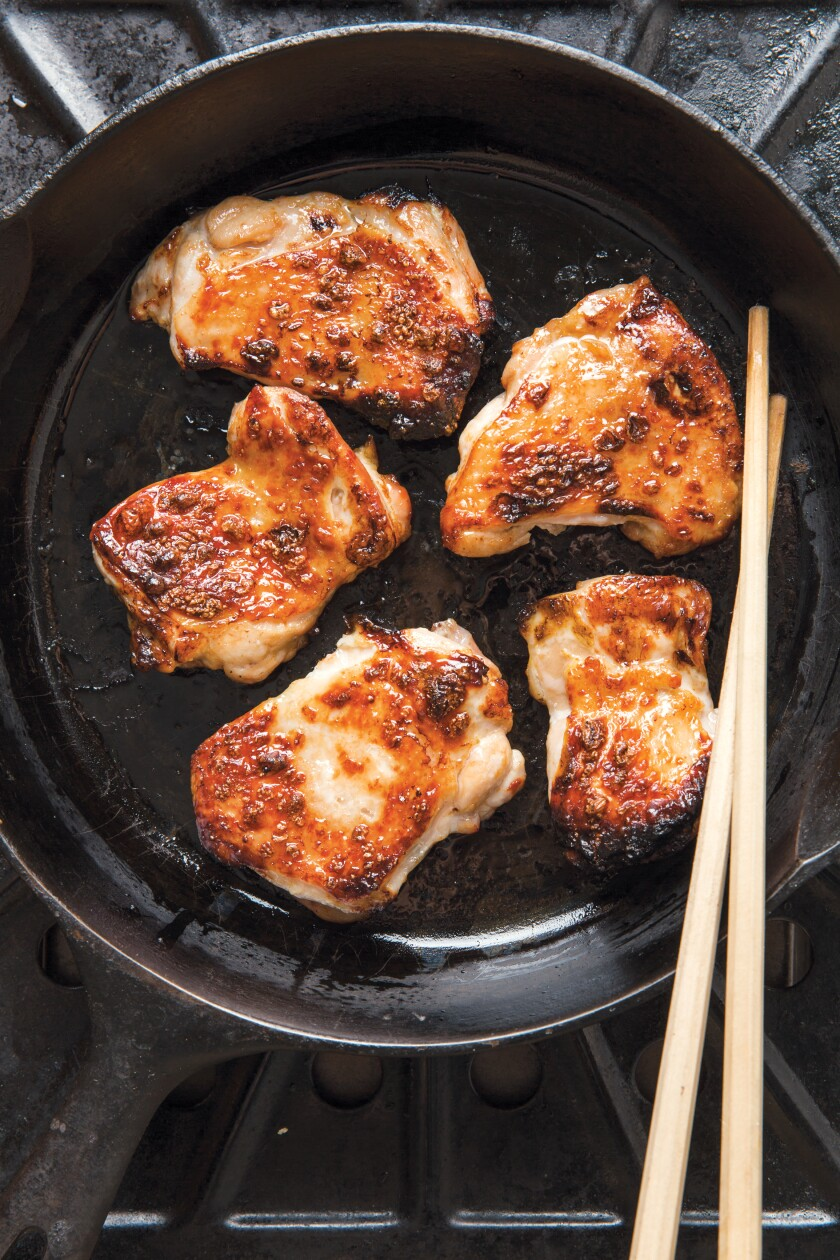 "Grilled ginger chicken with shoyu tare from ""Japanese Home Cooking"" by Sonoko Sakai"
