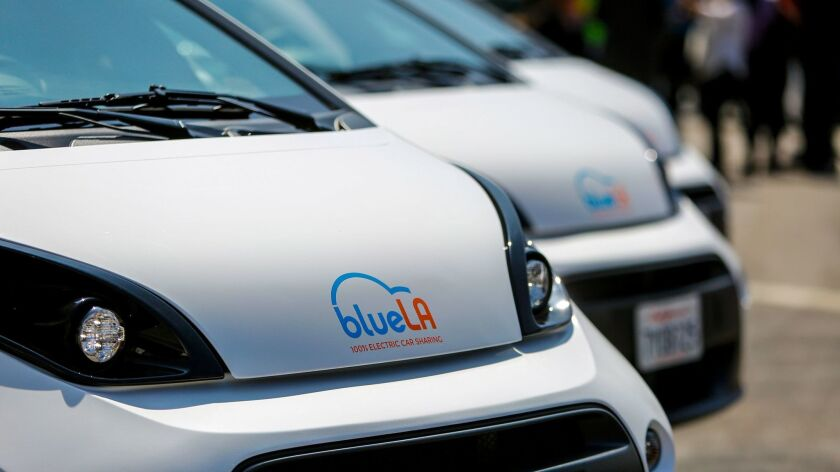 BlueLA is a new ride-sharing service in Los Angeles.