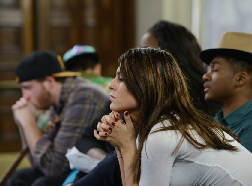 Contestants await their fate on 'American Idol.'