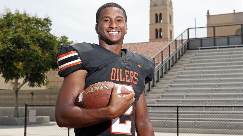 Huntington Beach High senior running back and safety Arick McLawyer is the Daily Pilot High School F