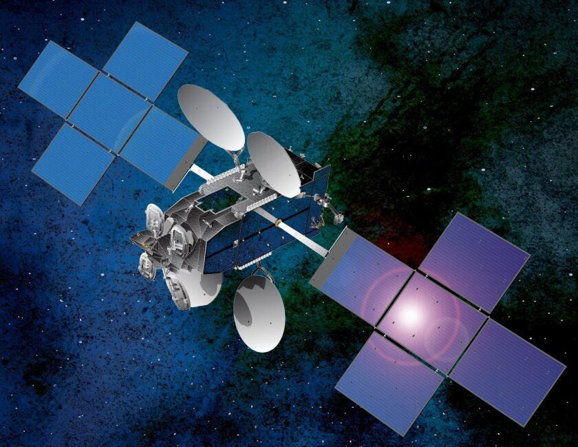This artist rendering depicts ViaSat-1 in orbit. The satellite launched Oct. 19.