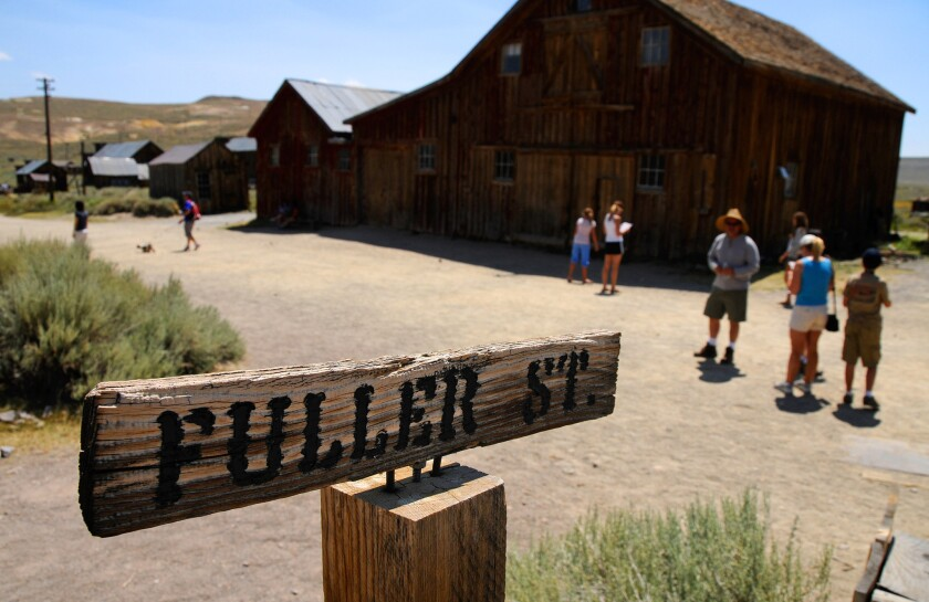 Bodie State Historic Park is a California gold-mining ghost town, where visitors can walk down the deserted streets of a town that once had a population of nearly 10,000 people.