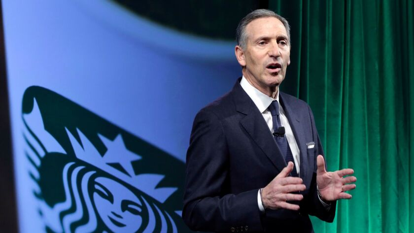Starbucks Chairman and CEO Howard Schultz speaks Dec. 7 during the Starbucks 2016 Investor Day meeting in New York.