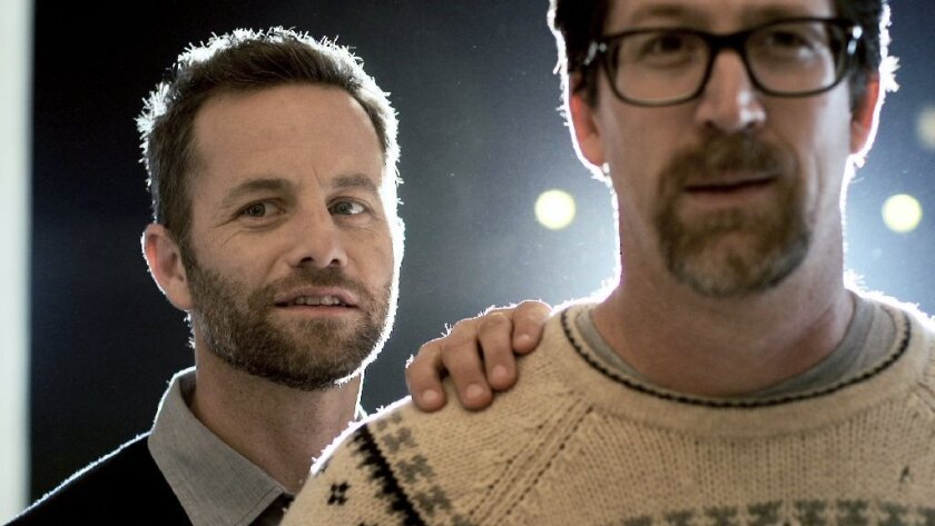 """Saving Christmas,"" starring Kirk Cameron, left, and Darren Doane, who also co-wrote and directed the film, dominated the 35th Razzie Awards."