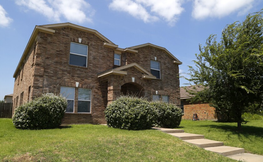 The residence of Micah Xavier Johnson in Mesquite, Texas.