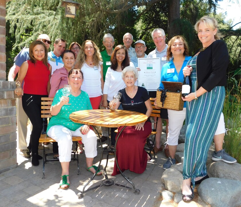 The organizing committee for the La Cañada Flintridge 17th annual Wine & Food Tasting.