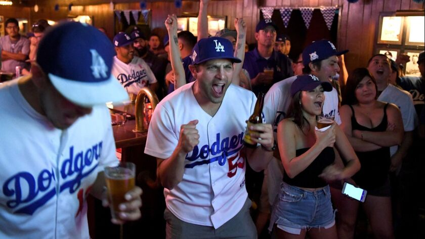 A favorite touchstone: The Short Stop near Dodger Stadium, where there is always something to cheer about.