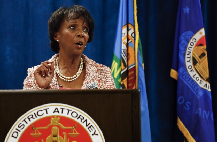 """Dist. Atty. Jackie Lacey said of the increase in competency cases, """"I think it's a sign that we urgently need to embrace the mental health diversion program."""""""