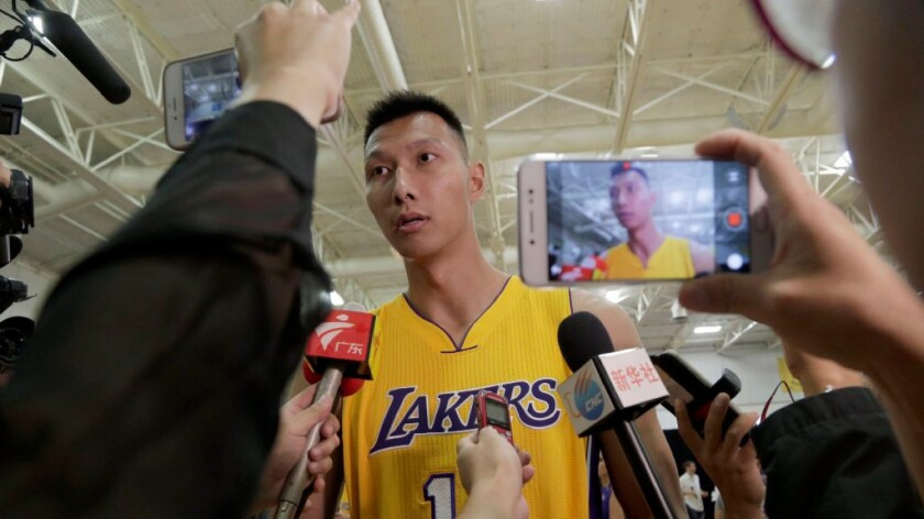 Yi Jianlian might be playing his way onto the Lakers roster