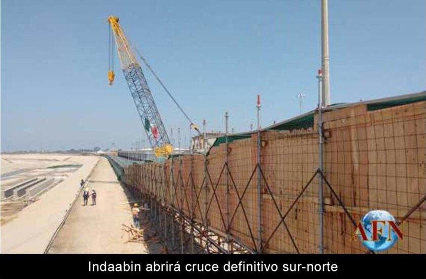 Indaabin abrirá cruce definitivo sur-norte