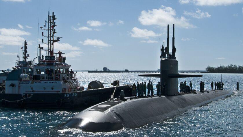 131006-N-XW558-072 DIEGO GARCIA, British Indian Ocean Territory (Oct. 6, 2013) The Los Angeles-class