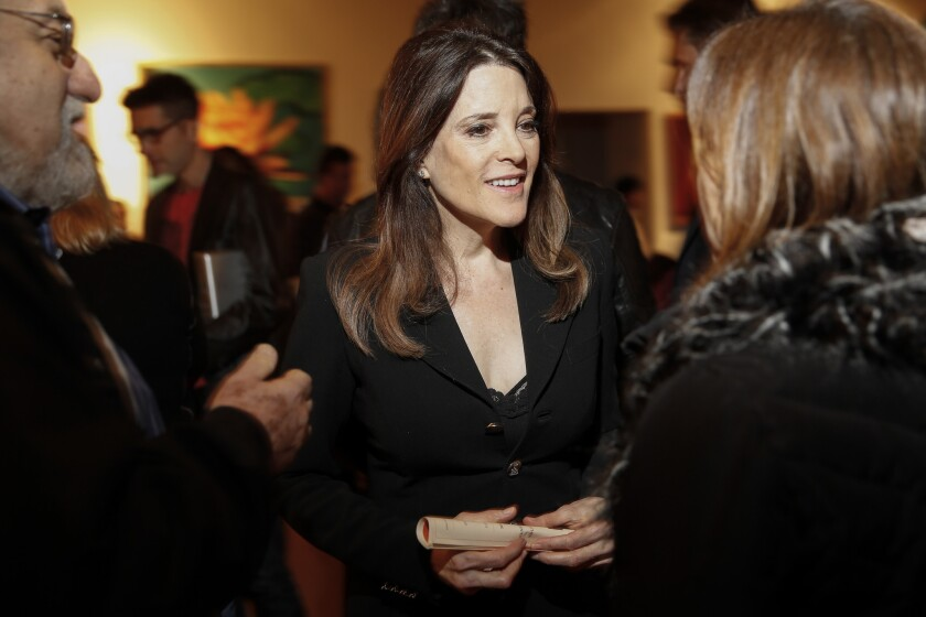 Marianne Williamson as a congressional candidate in 2013.