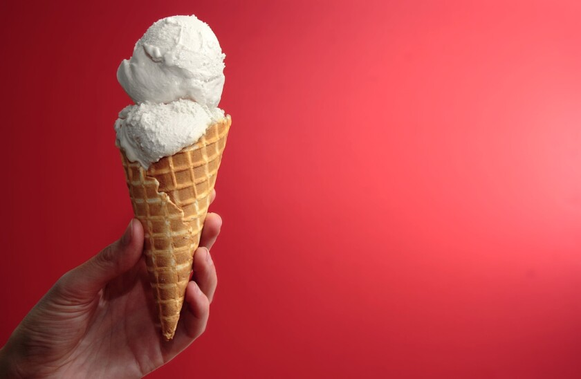 Ice cream, such as the vanilla ice cream cone pictured here, is pleasurable enough on its own, but your favorite flavor may seem boring compared to the Viagra ice cream created by a U.K.-based food inventor.