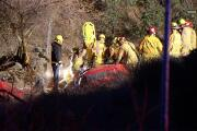 Firefighters extricate driver who crashed into ravine near I-8