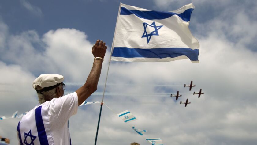 Celebrating Israeli Independence Day in 2012, which that year fell on April 26 on the Gregorian calendar.