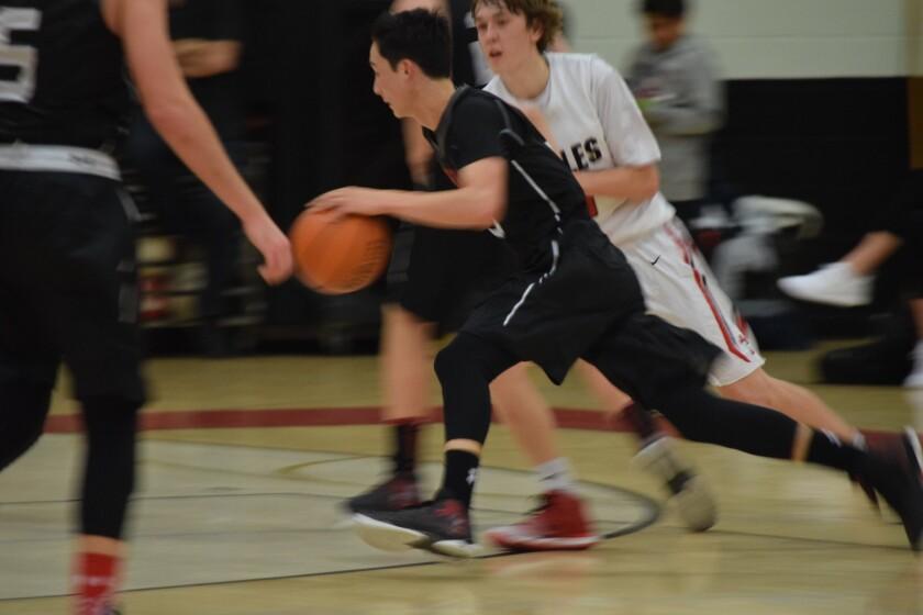 Tyler Elsom moving the ball.