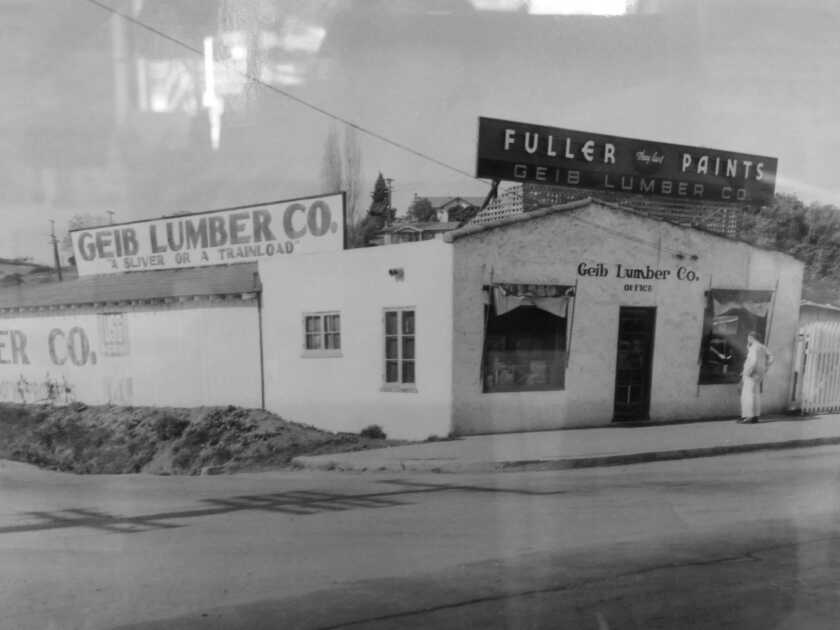 Geib Lumber Co. seen in its early years