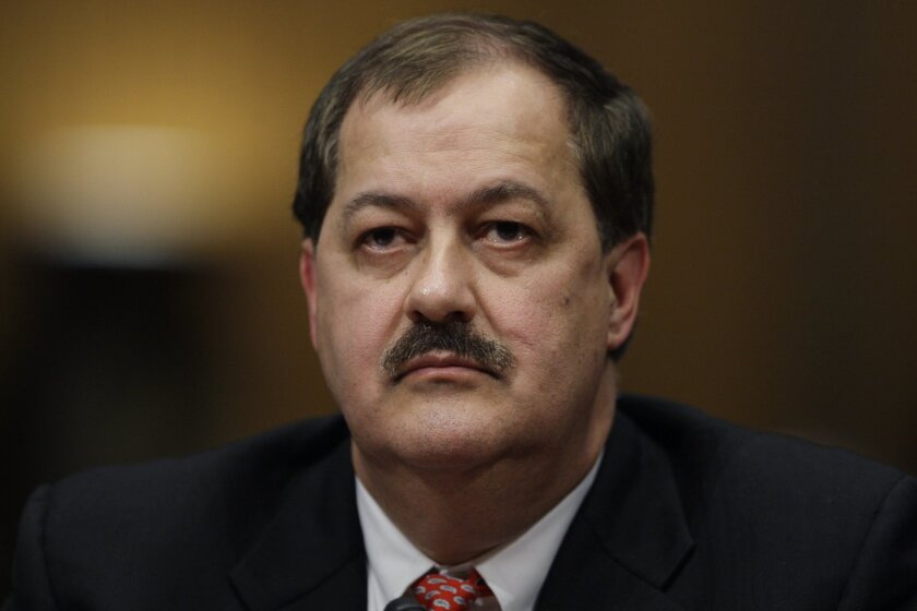Former Massey Energy Chief Executive Don Blankenship, shown in 2010, has been sentenced to a year in prison and fined $250,000 for his role in a deadly coal mine explosion.