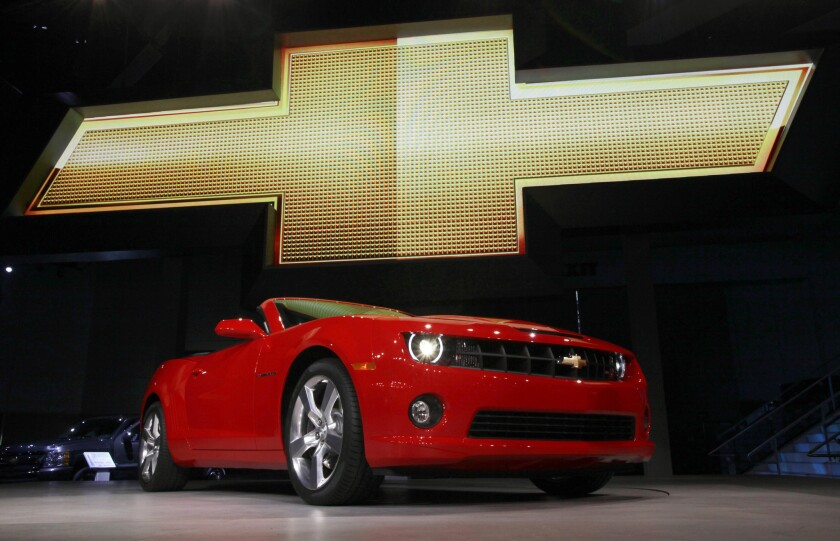 Chevrolet will replace this current model Camaro with a newly designed car later this year. The next Camaro will share just two small parts with this model.