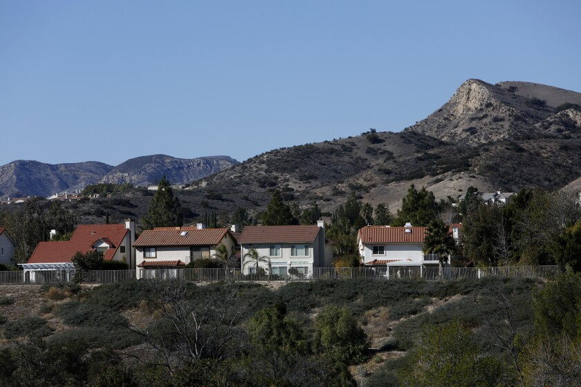 A neighborhood in Porter Ranch. Gov. Jerry Brown visited with residents in the neighborhood, where fumes from a Southern California Gas Co. well have sickened people and forced the relocation of families.