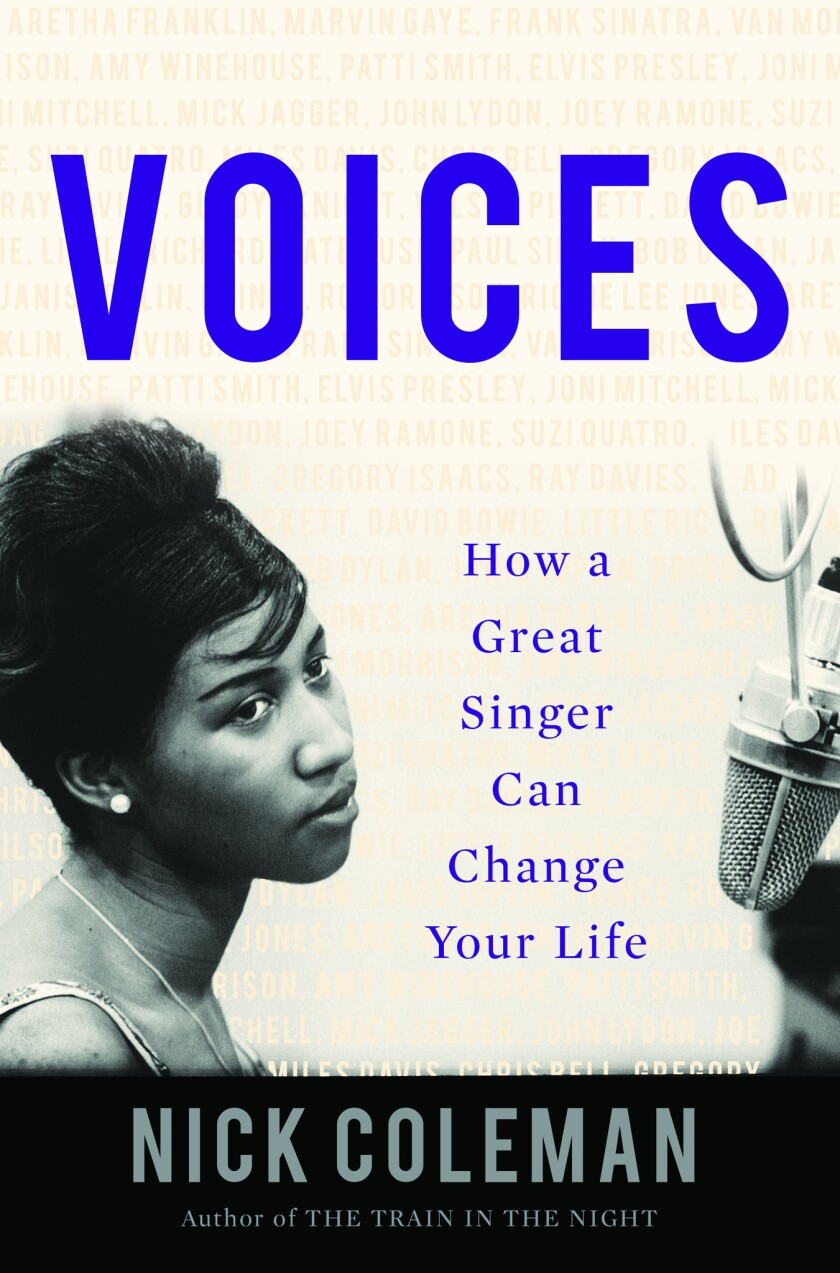 """A book Jacket for Nick Coleman's """"Voices: How a Great Singer Can Change Your Life."""" Credit: Counterp"""