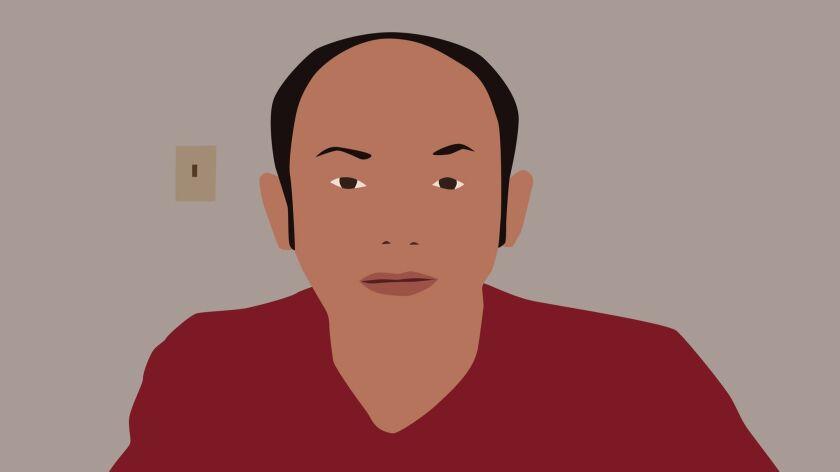A self-portrait of multi-media artist Kota Ezawa