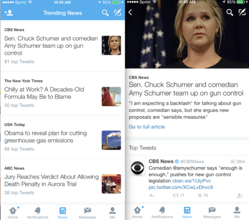 Twitter is experimenting with a News Tab feature.