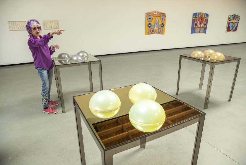 Judy Chicago at Jeffrey Deitch gallery