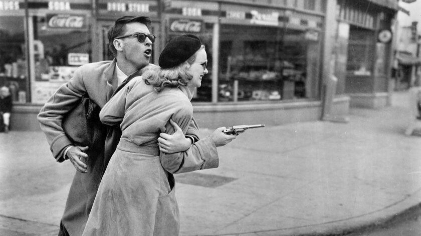 """Peggy Cummins and John Dall in """"Gun Crazy."""""""