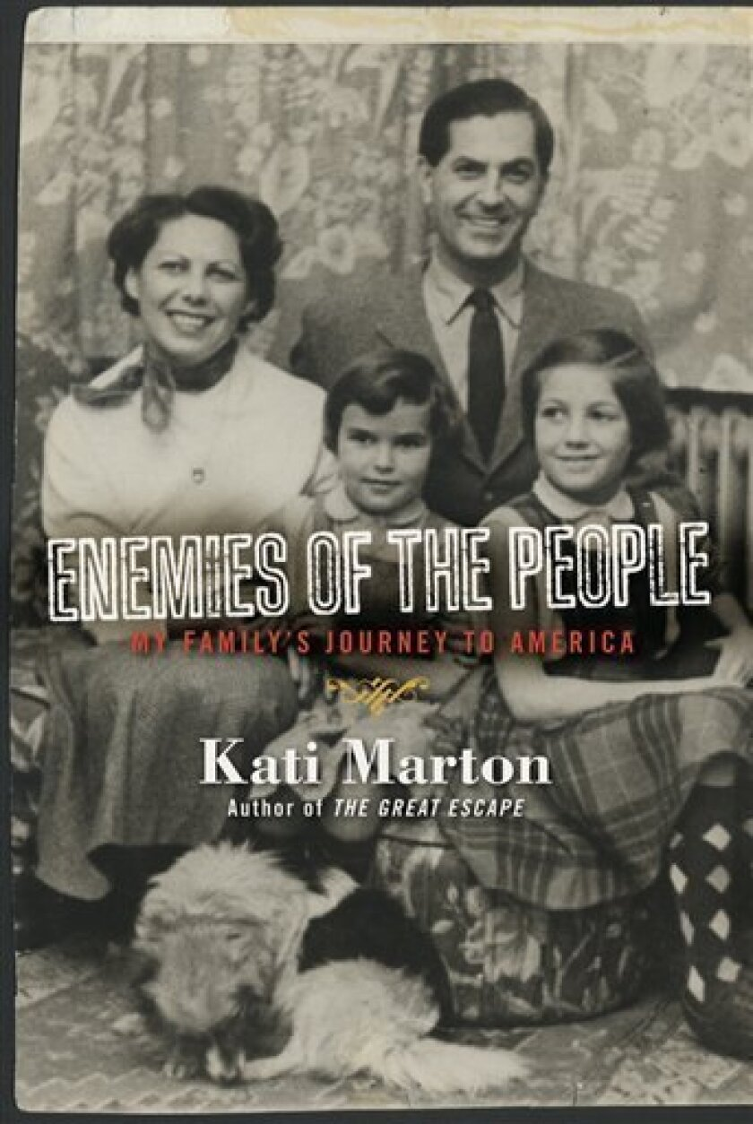 "In this book cover image released by Simon & Schuster,""Enemies of the People: My Family's Journey to America"" by Kati Marton, is shown. (AP Photo/Simon & Schuster)"