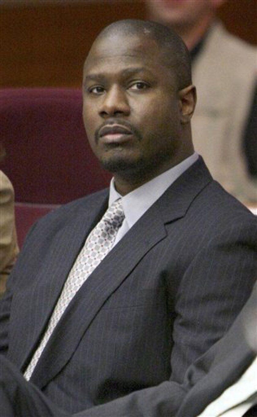 In this July 10, 2008, file photo, Brian Nichols looks toward the prosecution table as jury selection got underway in his trial in Atlanta. Superior Court Judge James Bodiford sentenced Nichols on Saturday, Dec. 13, 2008, to multiple life sentences in the killings of four people in a courthouse escape in March 2005. (AP Photo/John Spink, File)